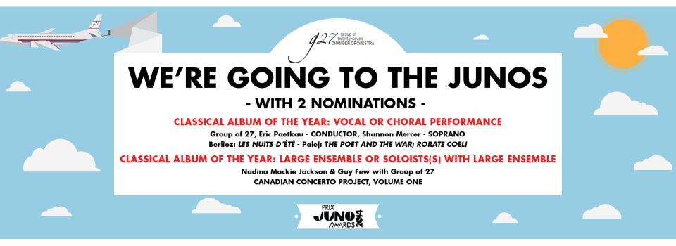 WE'RE GOING TO THE JUNOS!